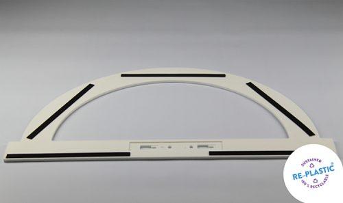 Kutomjer za školsku ploču PVC 50cm magnetni