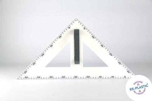 Trokut za školsku ploču 45° PVC 50cm