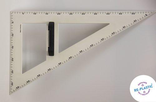 Trokut za školsku ploču 60° PVC 60cm