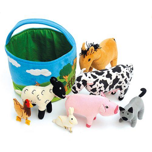 EY04249 Košarica za seoske životinje od tkanine