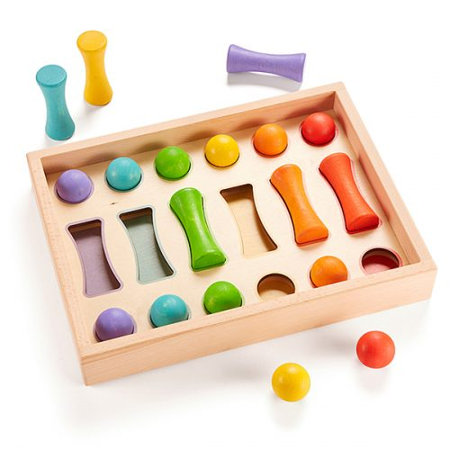 EY10642 Drvena kutijica za sortiranje oblika za bebe