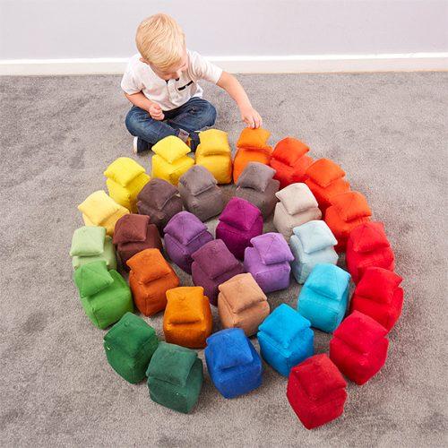 EY11083 Mekani jastučići raznih tonova - boja narančasta
