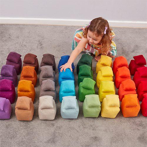 EY11089 Mekani jastučići raznih tonova - boja smeđa
