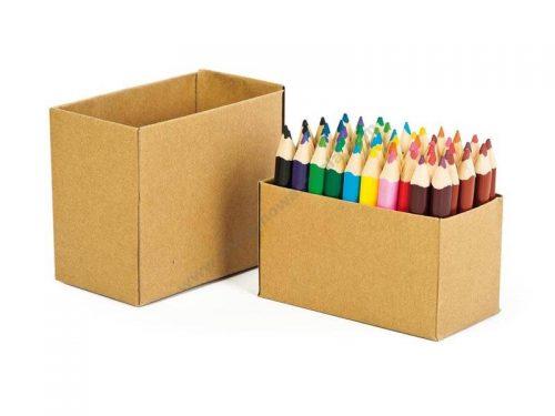 NS1060 Razredni jumbo paket kratkih drvenih bojica u kartonskoj kutiji 60 kom
