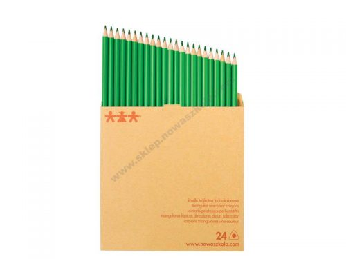 NS1091 Komplet drvenih bojica jedne boje - Zelena