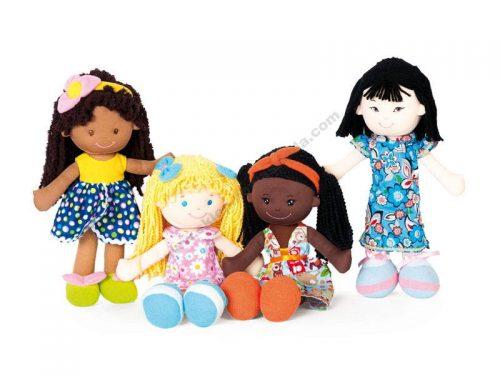 NS2061 Mekane lutke djevojčica iz različitih dijelova svijeta