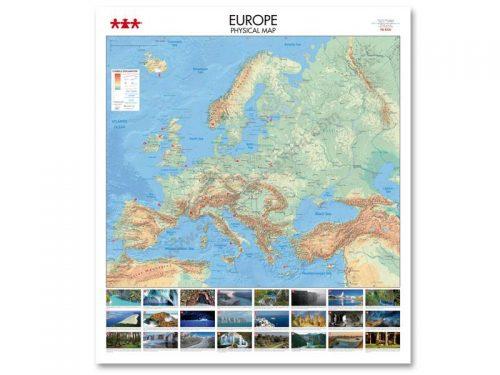 NS8336 Fizička karta kontinenta Europe
