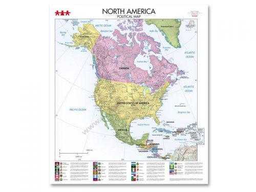 NS8343 Karta političkog uređenja kontinenta Sjeverne Amerike