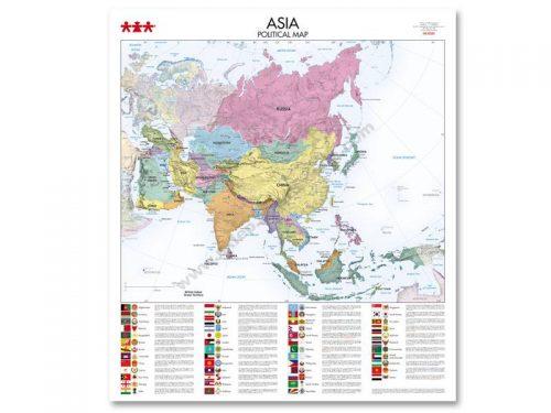 NS8345 Karta političkog uređenja kontinenta Azije
