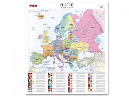 NS8346 Karta političkog uređenja kontinenta Europe