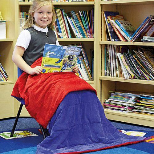 SD12319 Teška deka - 2.27 kg plava i crvena