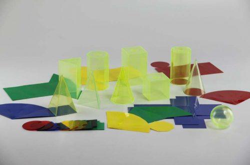 Modeli geometrijskih tijela PVC 10cm s mrežom